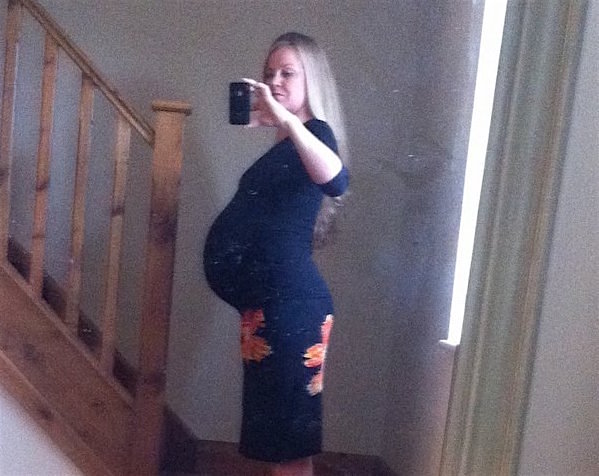 36 weeks pregnant large bump