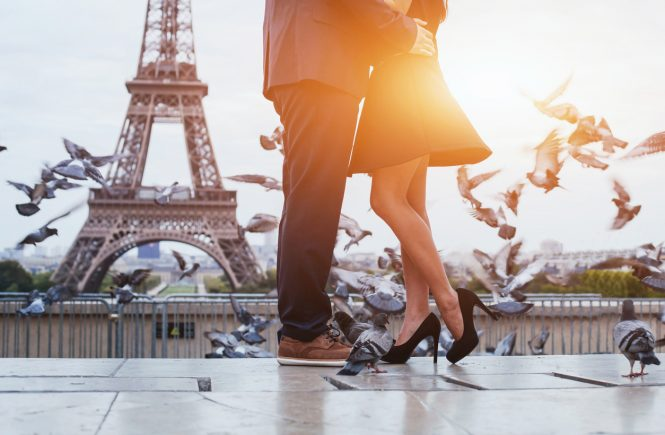 Date day & night in Paris