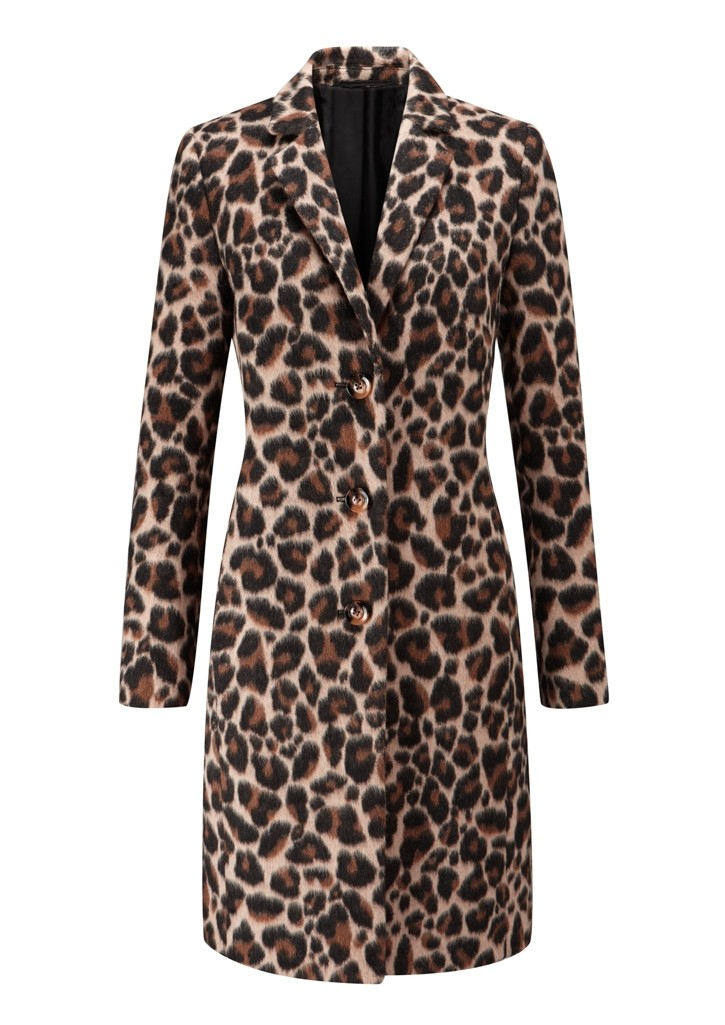 Ladies leopard print coat, £139.00, Sosandar