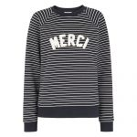 Whistles striped 'Merci' Sweatshirt