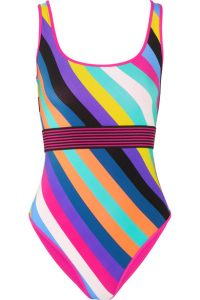 DVF striped swimsuit, £190