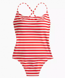 J.Crew tie-back one-piece swimsuit in classic stripe