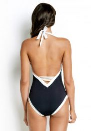 Seafolly block party v-neck-swimsuit, £95, Beach Cafe